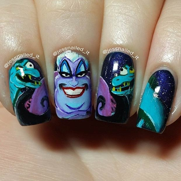 19 Ursula Nail Art (Little Mermaid)