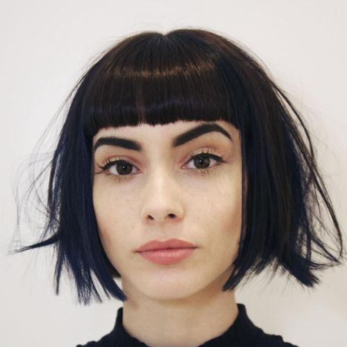 19 bob with cropped bangs