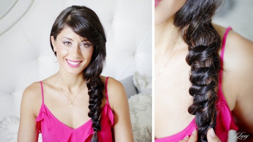 19 knotted messy side braid