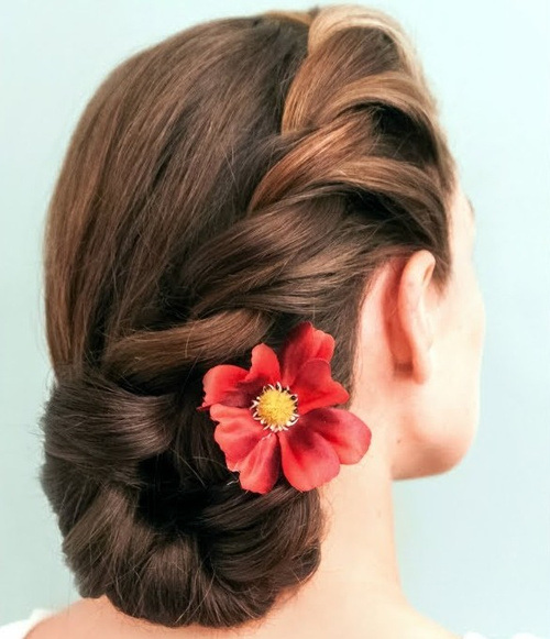 19 rope braided side bun