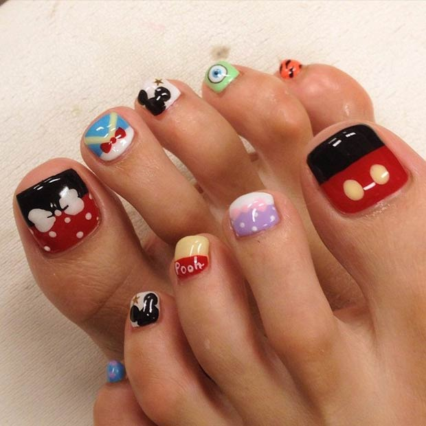 20 Toenail Disney Design