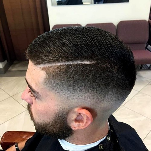 20 fade with a shaved part