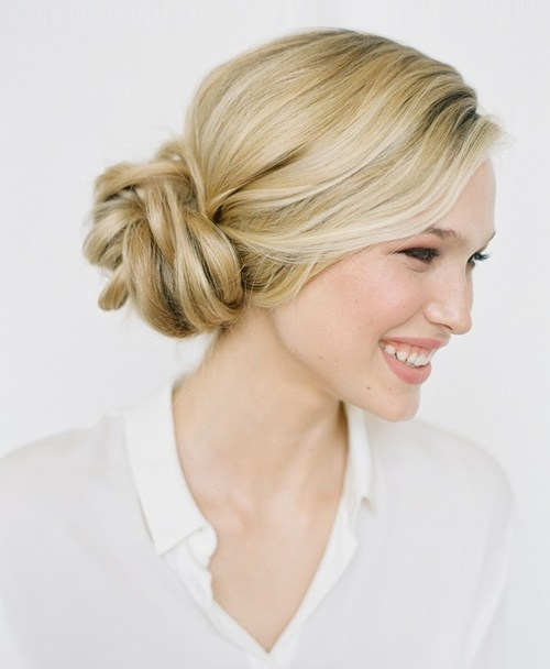 20 knotted bun updo