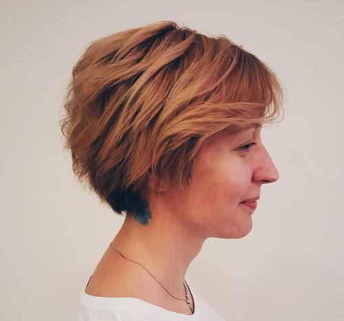 20 short layered bob