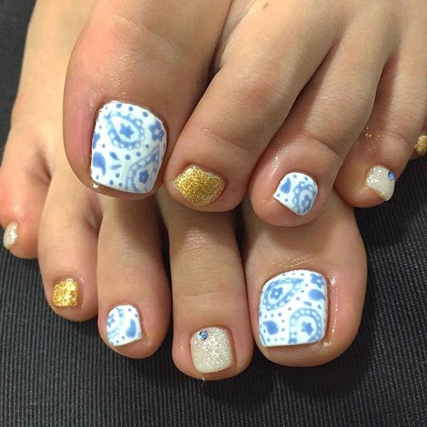 21 Blue & Gold Design