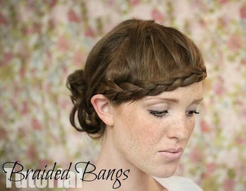 21 forehead framing braid with messy bun