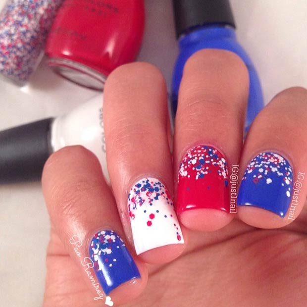 29 Red Finger Nail Art Designs Ideas: 29 Fantastic Fourth Of July Nail Design Ideas