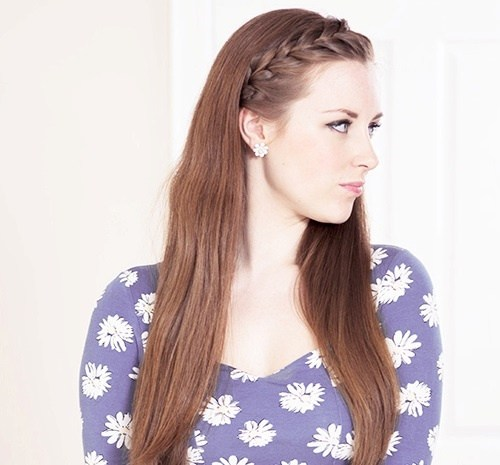 22 french braided bang hairstyle