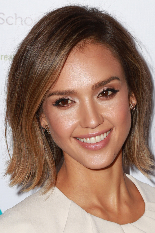 22 short layered bob hairstyle with a subtle ombre