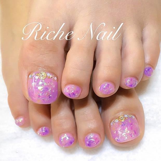 23 Purple Glitter Design