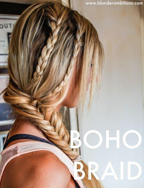 23 bohemian side braid