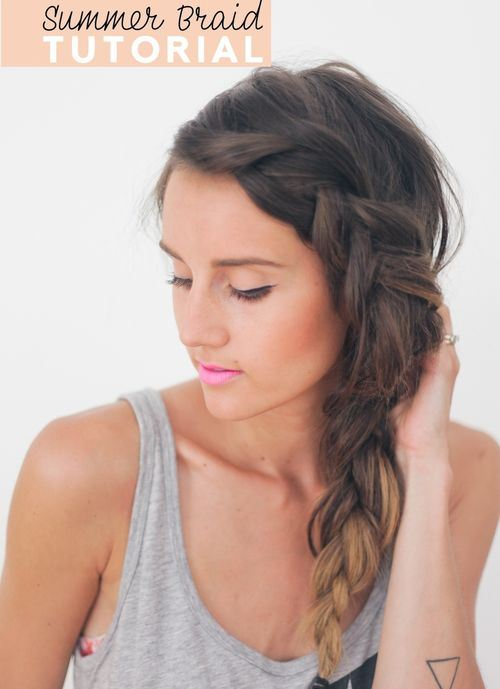23 thick messy side braid for long hair