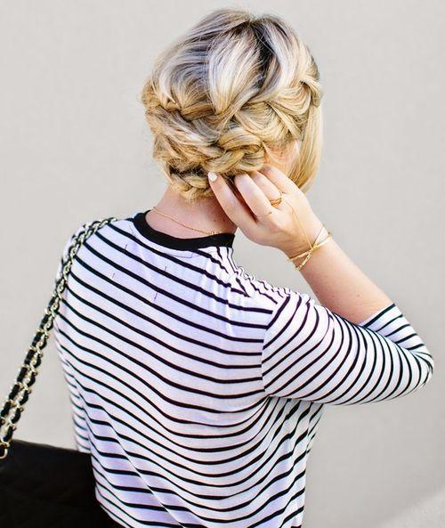 24 elegant updo with french braid