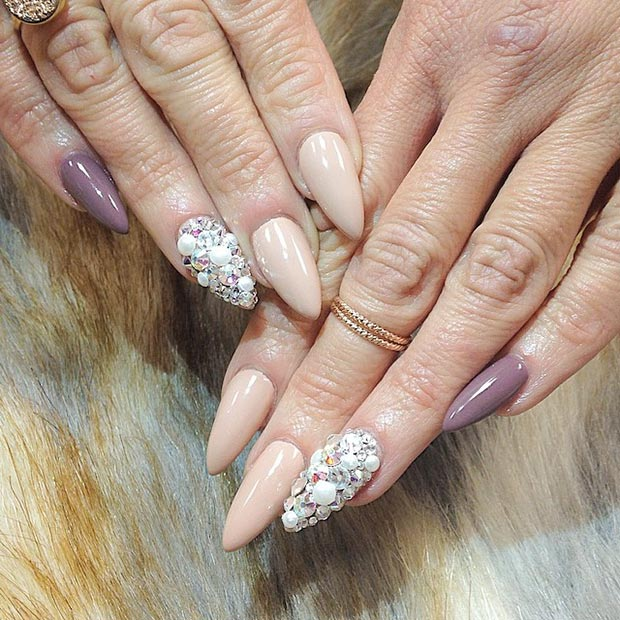 30 creative stiletto nail designs page 25 foliver blog 25 nude pearls prinsesfo Image collections