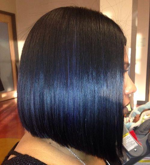 25 long blunt bob for black women