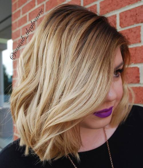 25 long side parted bob hairstyle