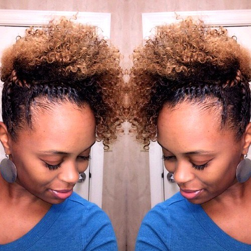 26 curly updo with twists for black curly hair