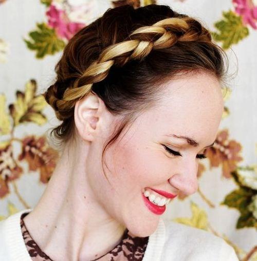 26 simple crown braid hairstyle