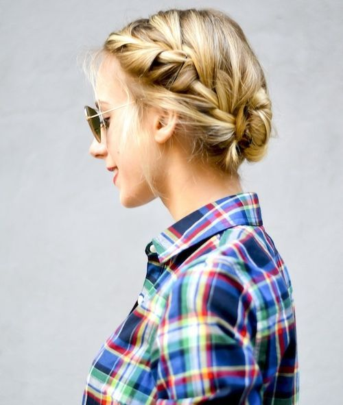 28 messy french braid with middle part