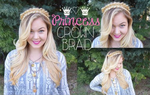 28 princess crown braid hairstyle