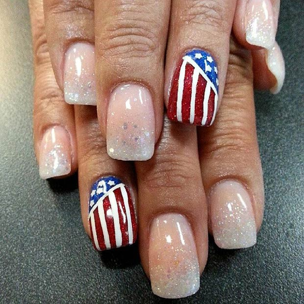 29 Fantastic Fourth Of July Nail Design Ideas Page 29 Foliver Blog