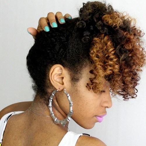 29 simple updo for medium black hair