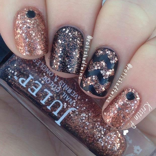 3 Copper Glitter Design