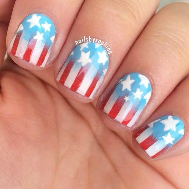 3 Gradient American Flag Design