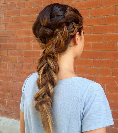 3 french braid hairstyle for long thick hair