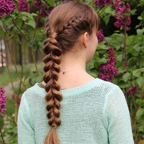 3 looped through ponytail braid