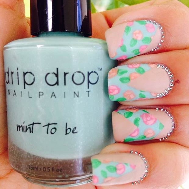 30 Matte Floral Nail Design