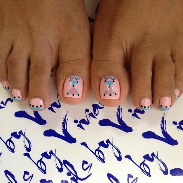 31 Pink and Blue Tribal Design
