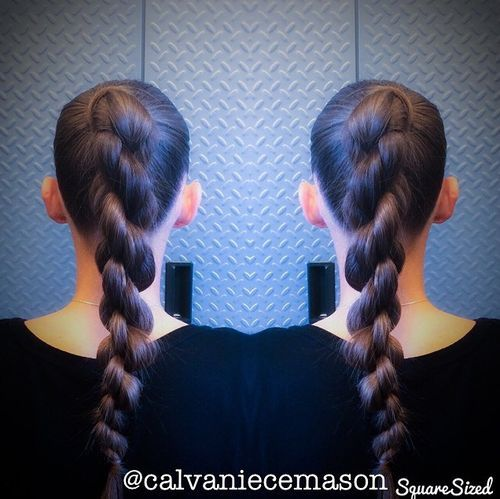 31 chain braid from ponytail