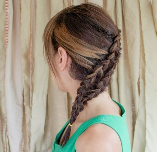 31 diagonal two french braid hairstyle