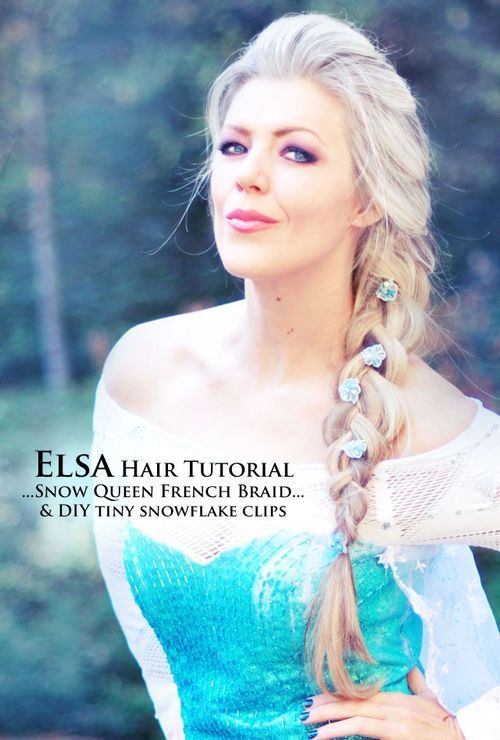 31 elsa snow queen style big french braid