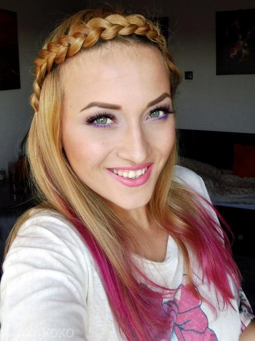 31 tight headband braid and dip dye