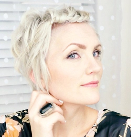 32 braided bang pixie hairstyle