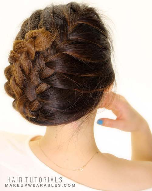 33 5 minute easy braid updo