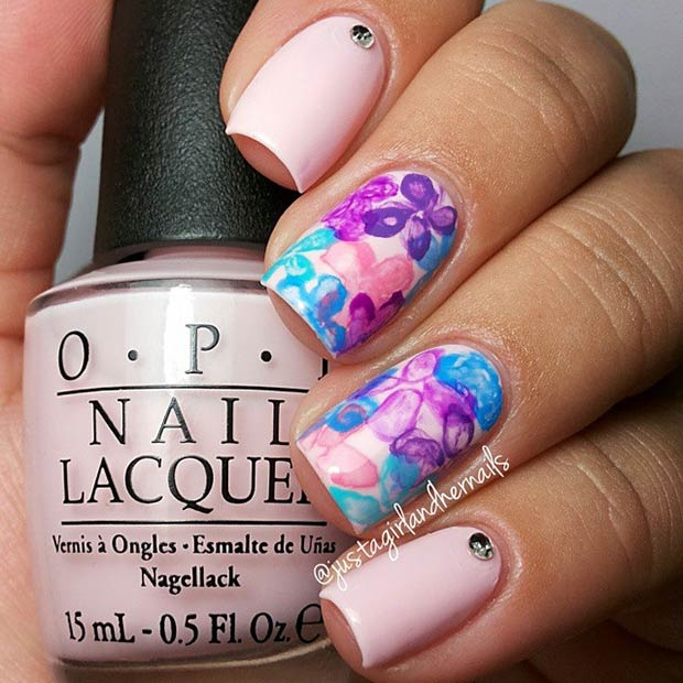 33 Light Pink and Purple Flowers