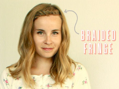 34 braided bang hairstyle for shoulder length hair