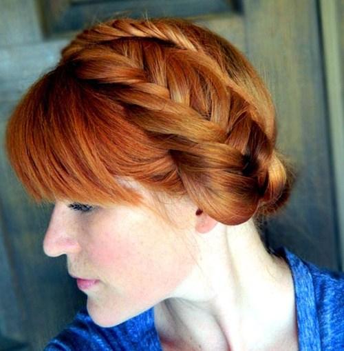 34 fishtail crown braid hairstyle