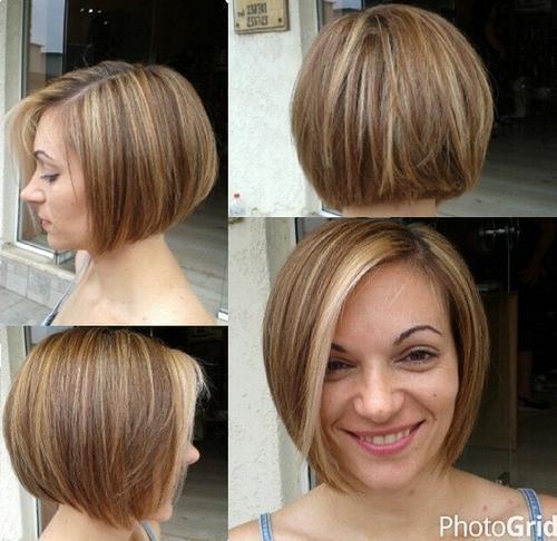 Stupendous 40 Short Bob Hairstyles Layered Stacked Wavy And Angled Bob Short Hairstyles Gunalazisus
