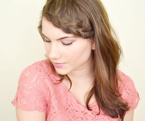 36 braided bang hairstyle for shoulder length hair