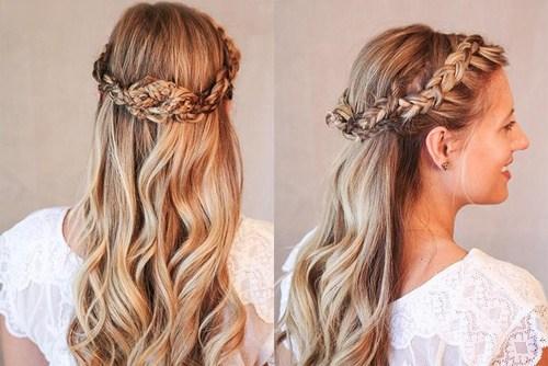 37 goddess inspired crown braid