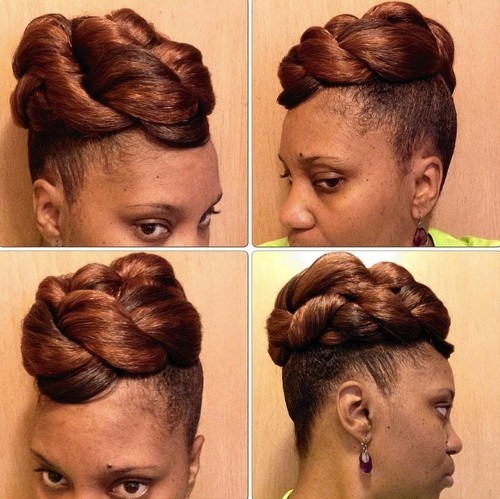 37 simple updo for short natural hair