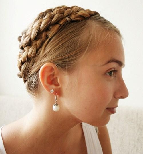 38 six braid crown braid hairstyle