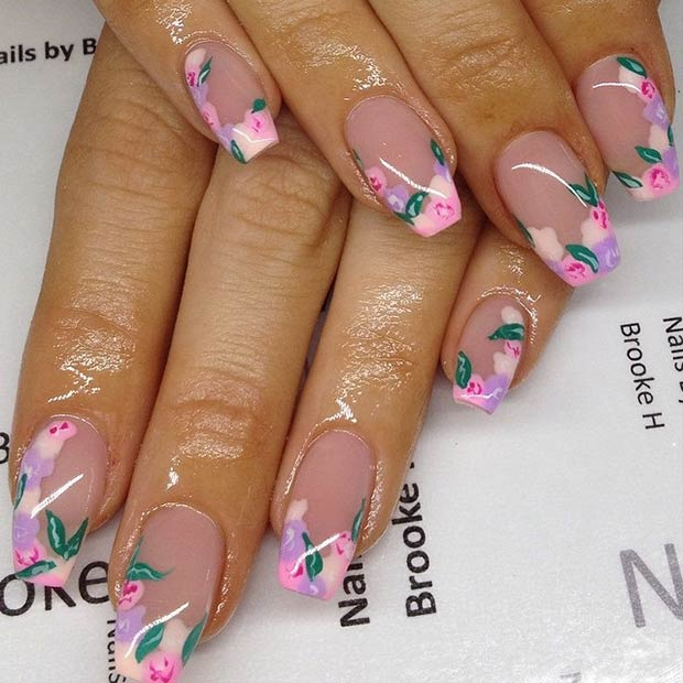 4 French Floral Tips