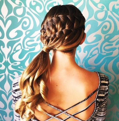 50 Elegant French Braid Hairstyles – Page 4 – Foliver blog