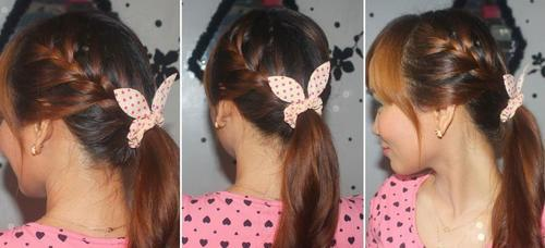 40 ponytail with quirky hair accessory