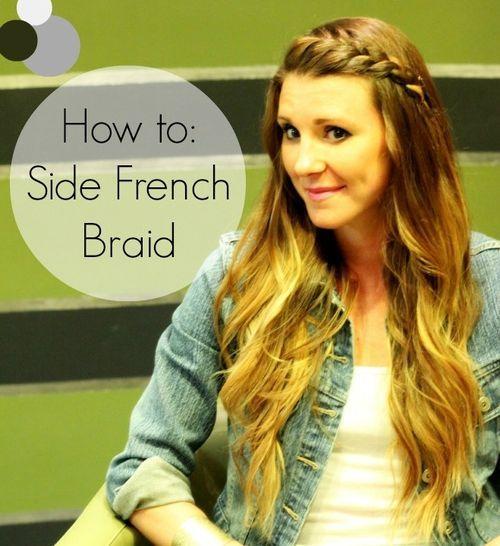 44 simple side braid for long hair